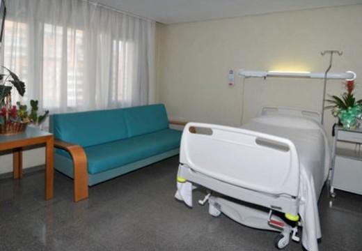 Habitaciones individuales para el paciente y acompañantes