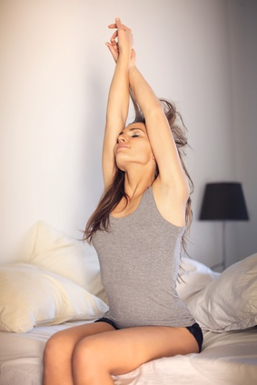 Woman Doing Her Early Morning Stretching