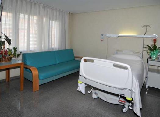 Dr. Julio Puig: Habitación para paciente y acompañantes